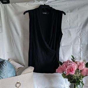 Ralph Lauren black wrap top